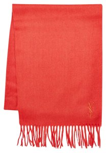 Saint Laurent NEW YSL Embroidered Logo Wool Scarf