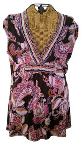 Trina Turk Paisley Work Silk Top
