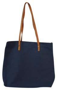 WFS Striped Tote in blue and navy