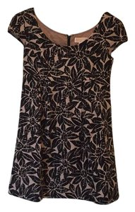 Michael Kors short dress black print over tan on Tradesy