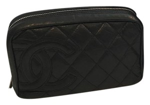 Chanel Chanel Black Quilted Cambon Cosmetic Bag