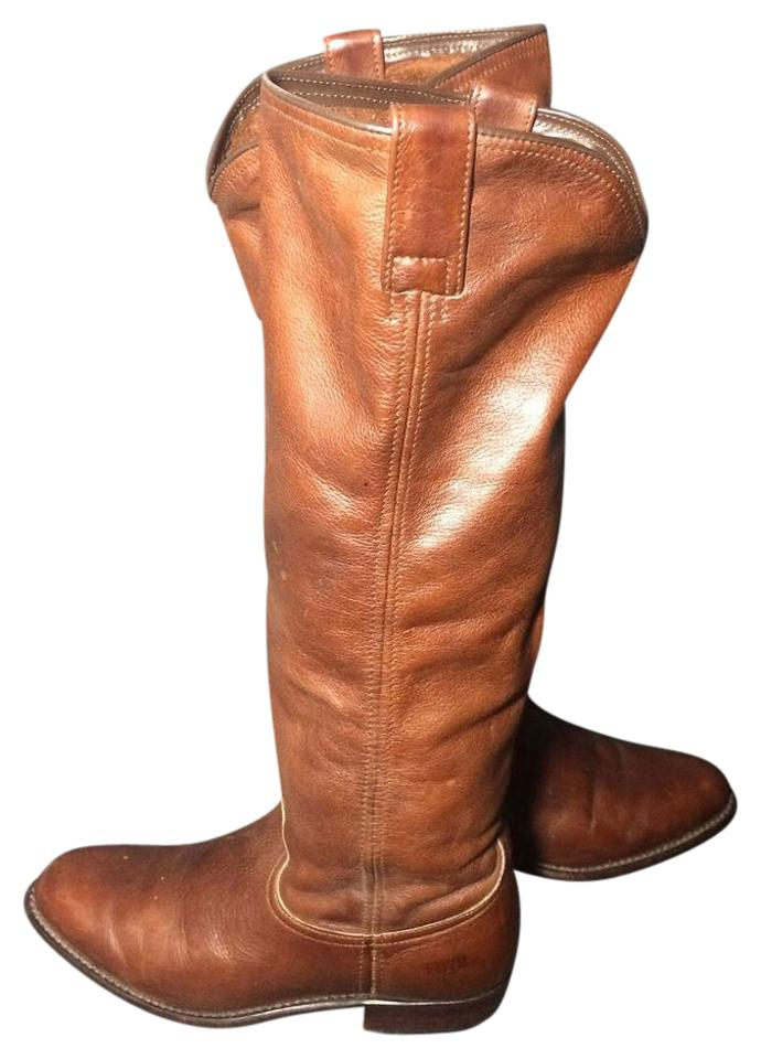 d270ffdcaab1 Frye Brown 77070 Dorado Low Leather Riding Motorcycle Women s Boots Booties