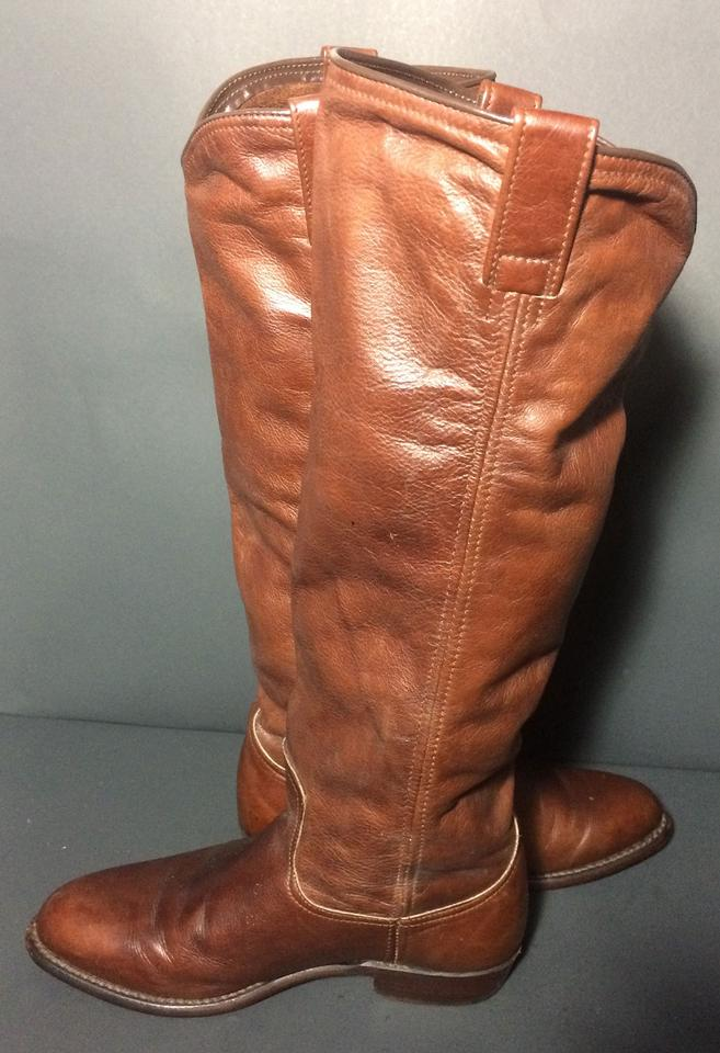 a49a47a08082 Frye Brown 77070 Dorado Low Leather Riding Motorcycle Women s Boots Booties  Size US 6.5 Regular (M