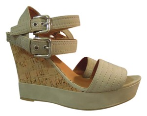 GC Shoes Cork Stappy beige Wedges