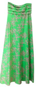 Green and Pink Maxi Dress by Lilly Pulitzer Coral Maxi