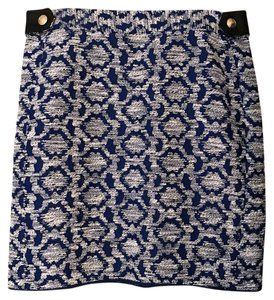 Diane von Furstenberg Dvf Tapestry Mini Skirt blue and black