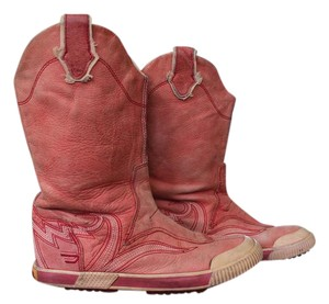 Diesel Leather Cowboy Red Boots