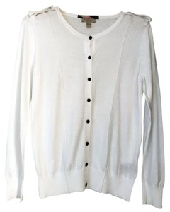 Burberry Brit Cotton Sweater Button Down Shirt white