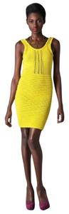 Opening Ceremony short dress Yellow Mini Knit Ribbed on Tradesy
