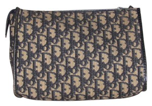 Dior Perfect For Travel Mint Vintage Dressy Or shades of black, blue, tan, trotter print canvas & leather Clutch