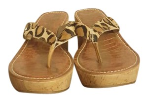 Sam Edelman Leopard calf hair Wedges