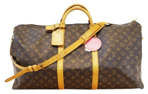 Louis Vuitton Lv Keepall 60 Bandouliere Monogram Travel Travel Bag