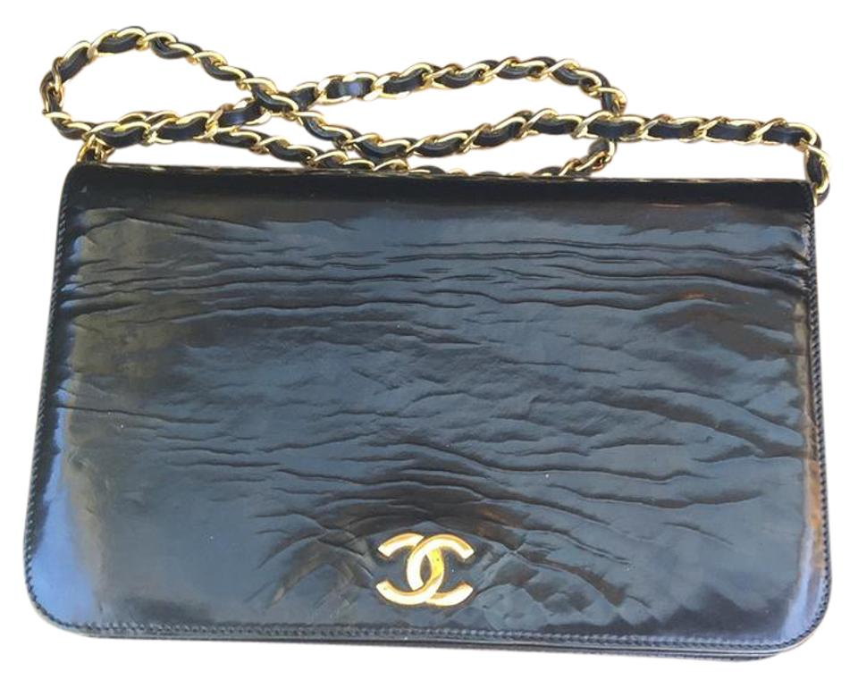 827799985428 Chanel Wallet on Chain Style Black Final M Patent Leather Shoulder ...