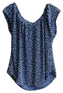 LC Lauren Conrad Top Navy blue and white
