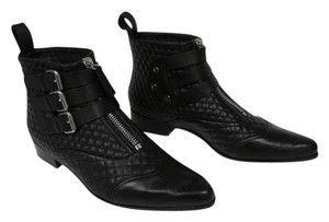Tabitha Simmons Nappa Leather Quilting Black Boots