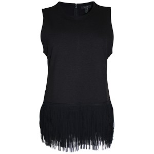 J.Crew Fringe Knit Slim Fit Top Black