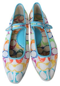 Coach Mirabella Monogram Multicolor on off white Flats