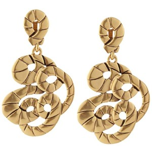 Oscar de la Renta Gold-toned Swirl Rope Earrings