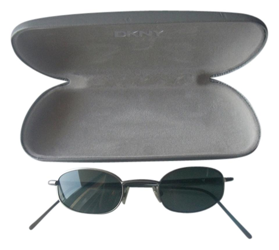6013eccde34 DKNY Donna Karan DKNY Silver Wire Frame Tea Shade Sunglasses Small Face or  Youth Child ...