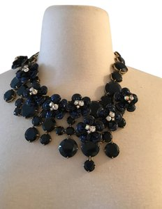 J.Crew J.CREW MIDNIGHT FLORAL NECKLACE F2782 NAVY