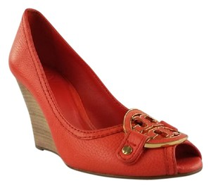 Tory Burch Scarlet Red Wedges
