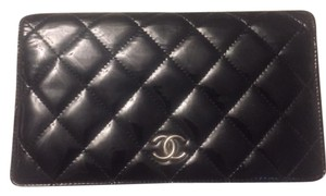 Chanel Classic Quilted Patent Bifold Wallet