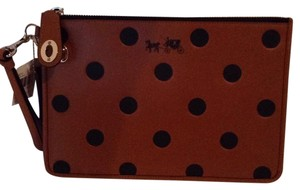 Coach New Collectors Leather Wristlet in SALE!!!! brown