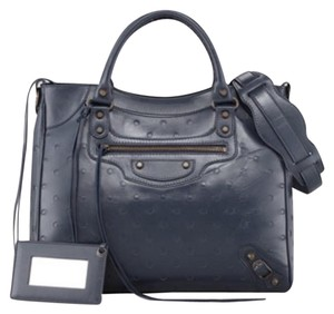 Balenciaga Satchel in Blueish/Gray Bleu Roi