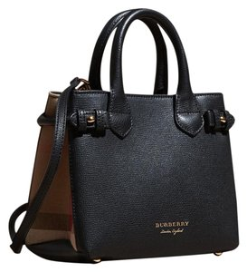 Burberry Banner Small Tote in Black