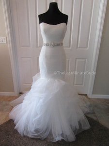 Allure Bridals Ivory/Silver Tulle 9317 Formal Wedding Dress Size 12 (L)