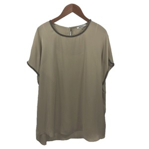 DKNY Embellished Date Night Spring Summer Top BEIGE