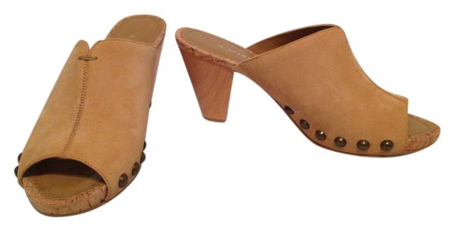 Item - Tan Natural Hearty Peep Toe Platforms Size US 6.5 Regular (M, B)