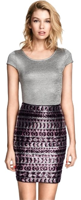 Item - Tribal Pink Black Flash Sale Sequin Embroidery Glam Party Skirt Size 2 (XS, 26)