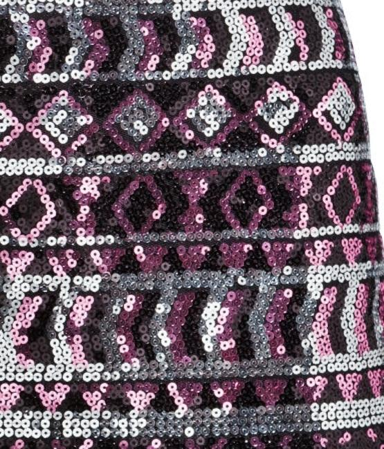 H&M Sequin Aztec Emrboidery Party Flash Sale Mini Skirt Tribal Pink Black