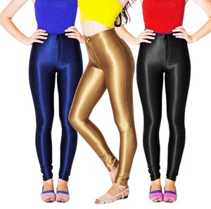 American Apparel Legging Leather Disco Skinny Pants GOLD