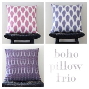 Handmade Boho Silk Pillow Cover Set