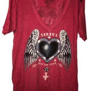 Sinful T Shirt Red