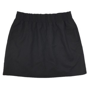 J.Crew Mini Wool Spring Polyester Fall Mini Skirt BLACK