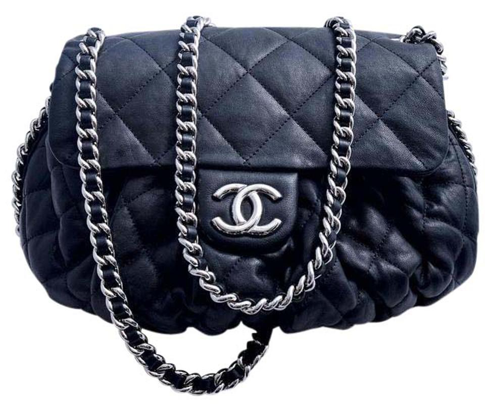 274db4d16c58 Chanel Lambskin Leather Chain Braided Quilted Cross Body Bag Image 0 ...