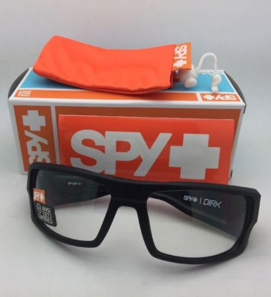 0aa0a982b4 Spy New Optic Safety Glasses Dirk Matte Black Frame W  Z87.1 Lenses W Clear  Sunglasses