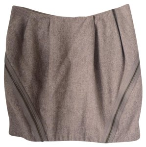 Topshop Mini Skirt Beige Pink Grey