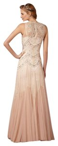 BHLDN Ivory & Blush Tulle Overlay Cate Vintage Wedding Dress Size 6 (S)