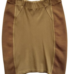 BCBGMAXAZRIA Mini Skirt Gold Mustard Yellow