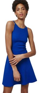 Topshop short dress Royal Blue Skater High Neckline Low Back Strappy Tunic on Tradesy