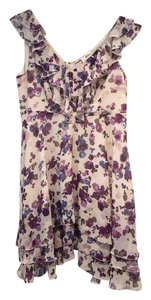 LC Lauren Conrad short dress white & purple on Tradesy
