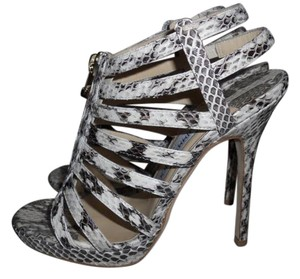 Jimmy Choo Strappy Glenys Snake Caged Platform Sandals