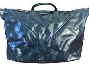 Saint Laurent Patent Leather Ysl Yves Tote in Black