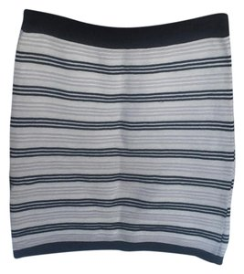 Romeo & Juliet Couture Mini Skirt gray, black, white stripes