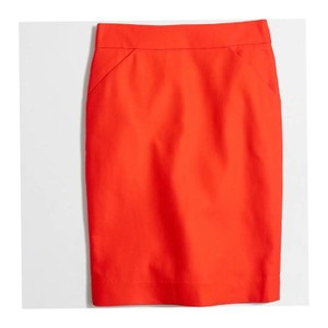 J.Crew Skirt Fiery Sunset (Orangey Red)