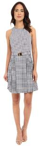 MICHAEL Michael Kors short dress Navy and White Belt Checkered on Tradesy